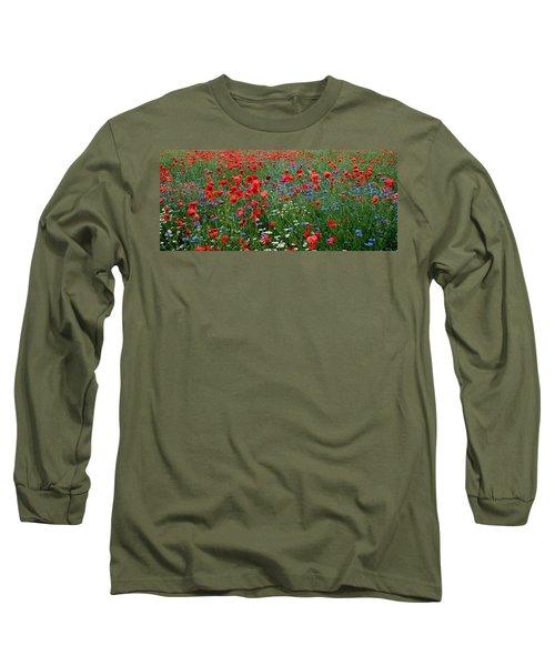 Spring Flowers Long Sleeve T-Shirt by Ellen Heaverlo