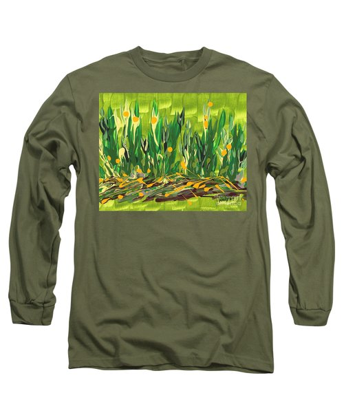 Long Sleeve T-Shirt featuring the painting Spring Garden by Holly Carmichael