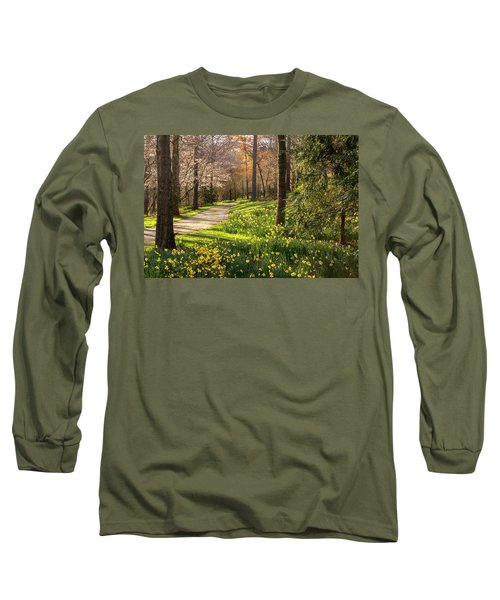 Spring Garden Path Long Sleeve T-Shirt