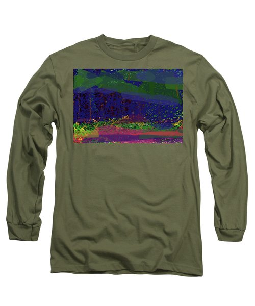 Long Sleeve T-Shirt featuring the digital art Spring Homage To Jackson by Walter Fahmy