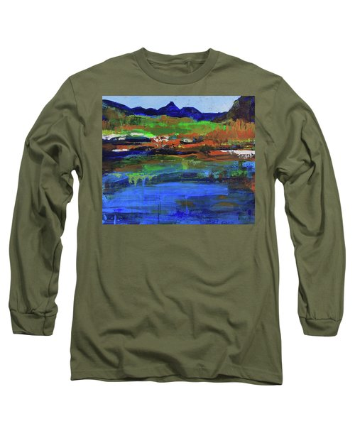 Long Sleeve T-Shirt featuring the painting Spring In High Country by Walter Fahmy