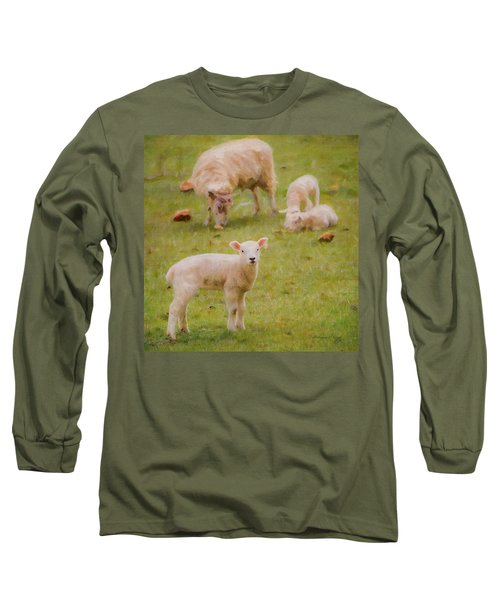 Long Sleeve T-Shirt featuring the photograph Spring Lamb by Bellesouth Studio