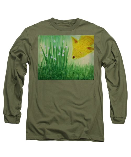 Long Sleeve T-Shirt featuring the painting Spring Morning by Tone Aanderaa