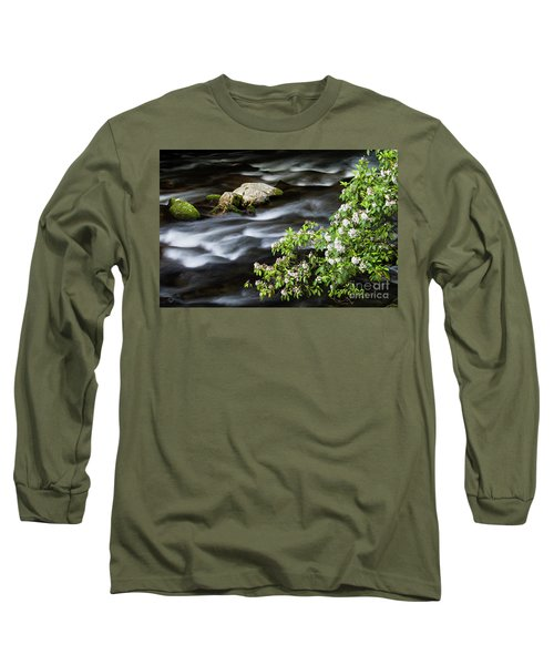 Long Sleeve T-Shirt featuring the photograph Spring On The Oconaluftee River - D009923 by Daniel Dempster