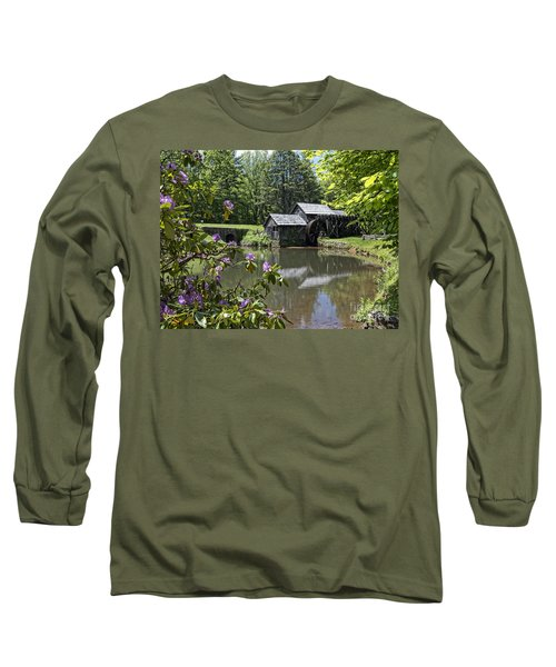 Spring Reflections Of An Ancient Mill Long Sleeve T-Shirt
