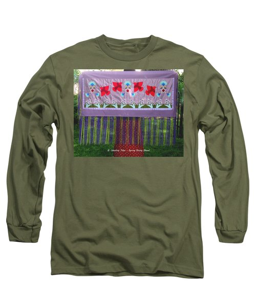 Long Sleeve T-Shirt featuring the tapestry - textile Spring Rising by Chholing Taha