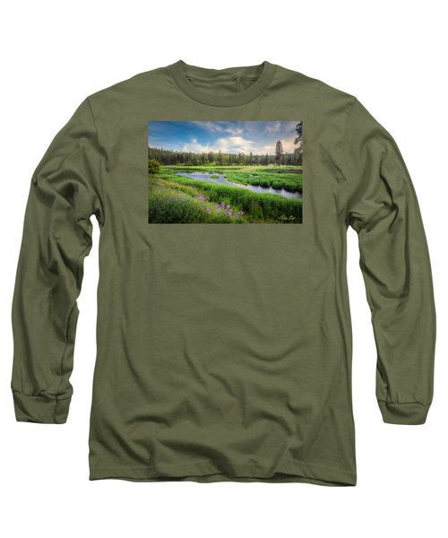 Long Sleeve T-Shirt featuring the photograph Spring River Valley by Rikk Flohr