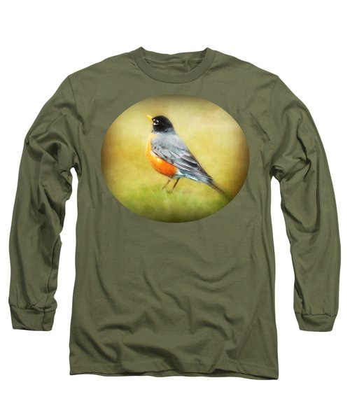 Spring Robin Long Sleeve T-Shirt