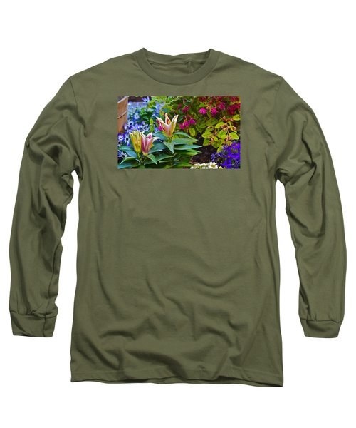 Spring Show 15 Lilies Long Sleeve T-Shirt by Janis Nussbaum  Senungetuk