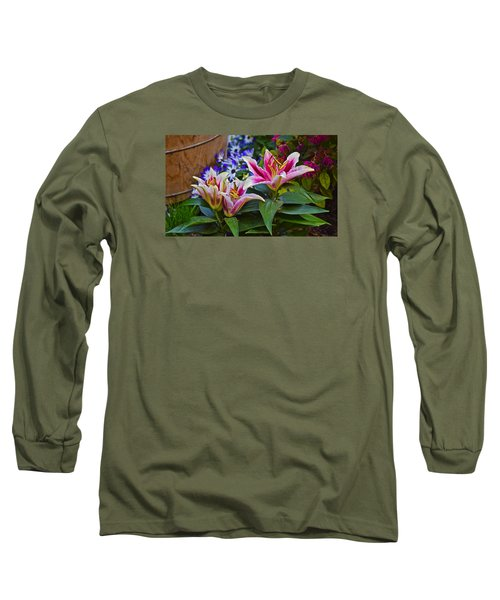 Spring Show 15 Lily Trio Long Sleeve T-Shirt by Janis Nussbaum Senungetuk