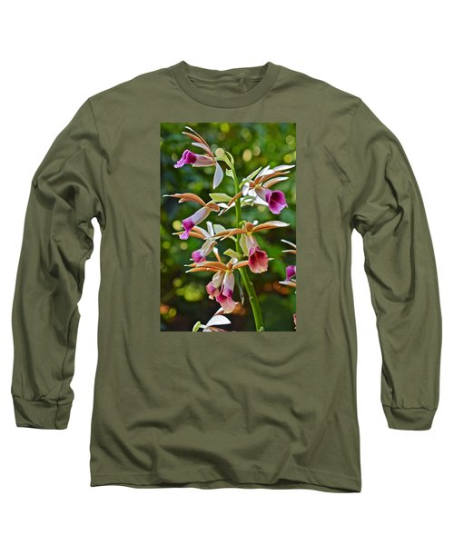 Spring Show 15 Nun's Orchid 1 Long Sleeve T-Shirt by Janis Nussbaum Senungetuk