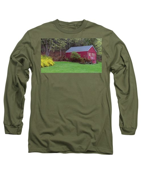 Long Sleeve T-Shirt featuring the photograph Spring Tobacco Barn by Bill Wakeley