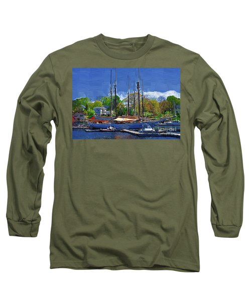 Springtime In The Harbor Long Sleeve T-Shirt by Kirt Tisdale
