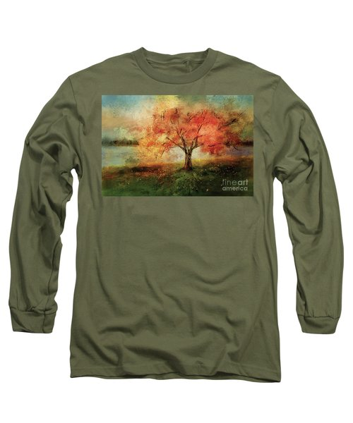 Long Sleeve T-Shirt featuring the digital art Sprinkled With Spring by Lois Bryan