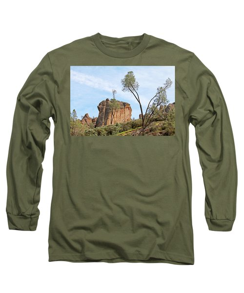 Long Sleeve T-Shirt featuring the photograph Square Rock Formation by Art Block Collections