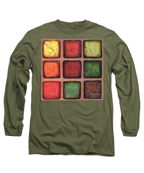 Squared In Bronze Long Sleeve T-Shirt