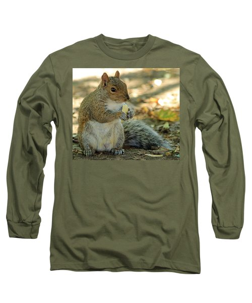 Squirrel Long Sleeve T-Shirt by Anne Venissac