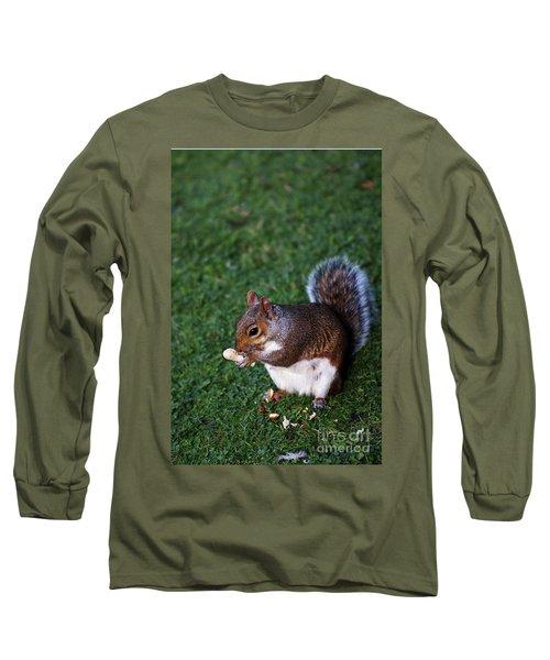 Squirrel Eating Long Sleeve T-Shirt