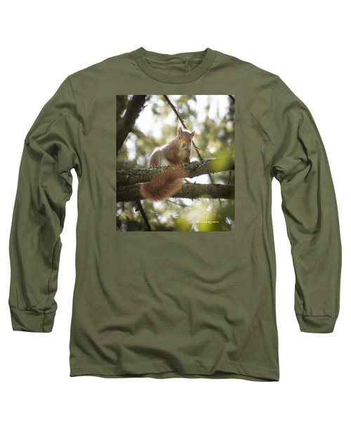 Long Sleeve T-Shirt featuring the photograph Squirrel On The Spot by Stwayne Keubrick
