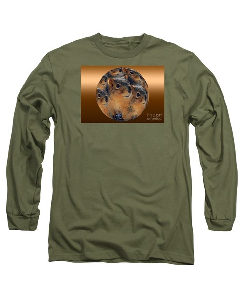Squirrels In A Ball No. 2 Long Sleeve T-Shirt
