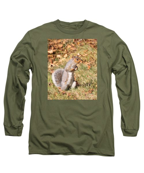 Long Sleeve T-Shirt featuring the photograph Squirrely Me by Debbie Stahre