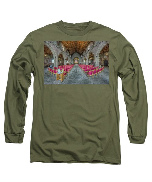 Long Sleeve T-Shirt featuring the photograph St Asaph Cathedral by Ian Mitchell