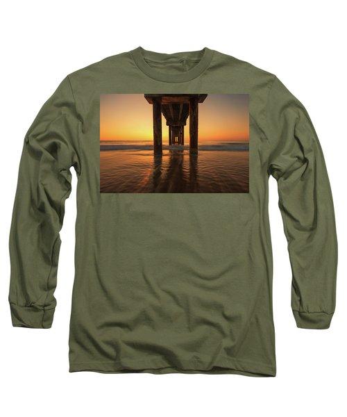 St Augustine Beach Pier Morning Light Long Sleeve T-Shirt