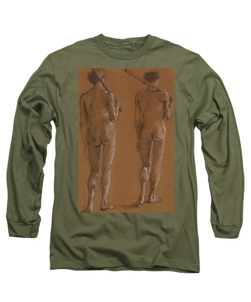 St George Series Male Nude Long Sleeve T-Shirt