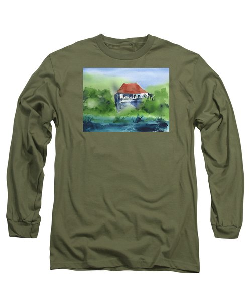 Long Sleeve T-Shirt featuring the painting St Johns Rental by Frank Bright
