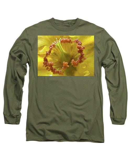 St Johns Wort Flower Centre Long Sleeve T-Shirt