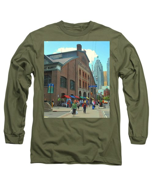 St Lawrence Market Long Sleeve T-Shirt by Ian  MacDonald