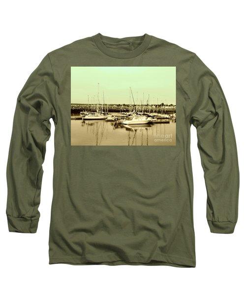 St. Lawrence Seaway Marina Long Sleeve T-Shirt by Susan Lafleur