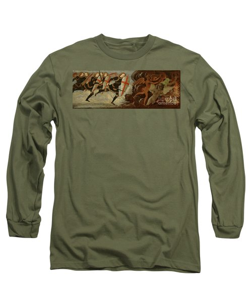 St. Michael And The Angels At War With The Devil Long Sleeve T-Shirt