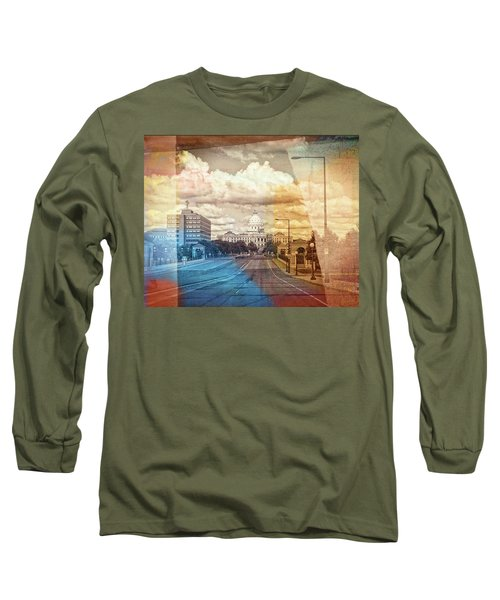 Long Sleeve T-Shirt featuring the photograph St. Paul Capital Building by Susan Stone