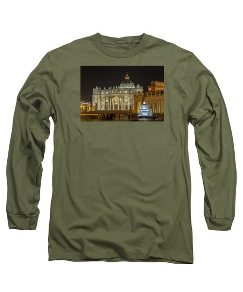 St. Peter Basilica Long Sleeve T-Shirt by Ed Cilley