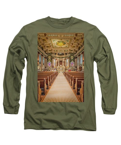 Long Sleeve T-Shirt featuring the photograph St Peter The Apostle Church Pa by Susan Candelario