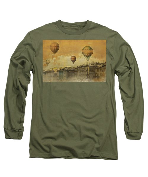 St Petersburg With Air Baloons Long Sleeve T-Shirt by Jeff Burgess