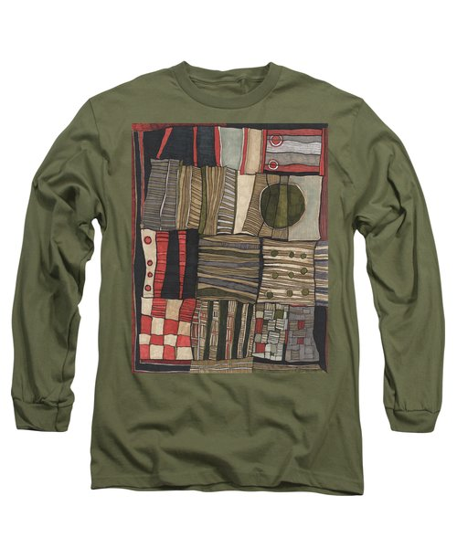 Stacked Shapes Long Sleeve T-Shirt by Sandra Church