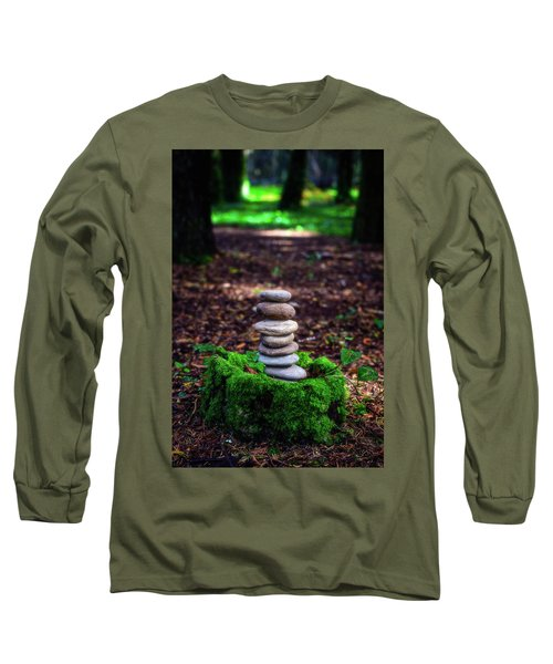 Long Sleeve T-Shirt featuring the photograph Stacked Stones And Fairy Tales Iv by Marco Oliveira