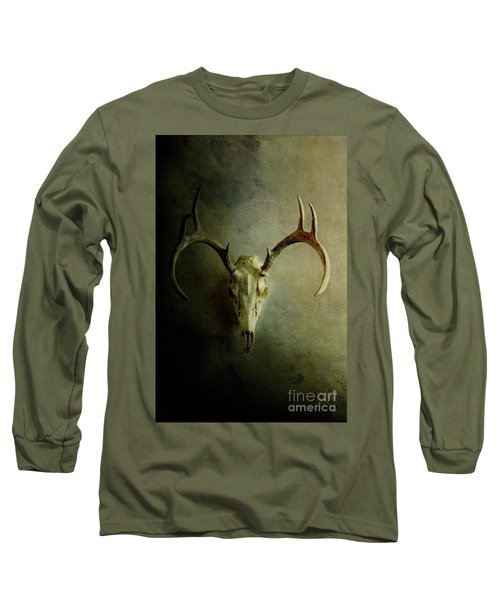 Long Sleeve T-Shirt featuring the photograph Stag Skull by Stephanie Frey