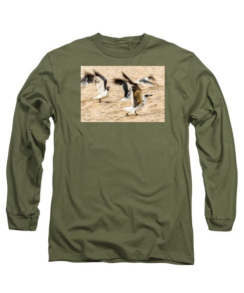 Stages Of Flight Long Sleeve T-Shirt by Wayne King