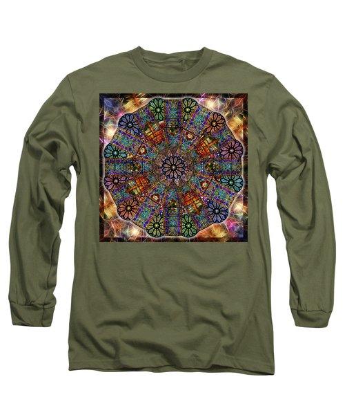 Stained Glass Mandala Long Sleeve T-Shirt