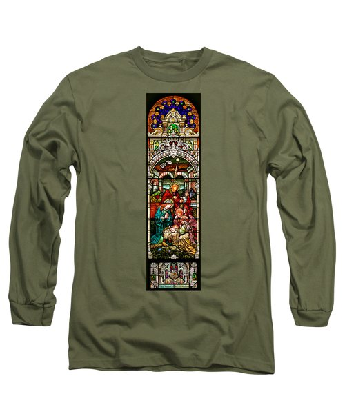 Long Sleeve T-Shirt featuring the photograph Stained Glass Scene 4 by Adam Jewell