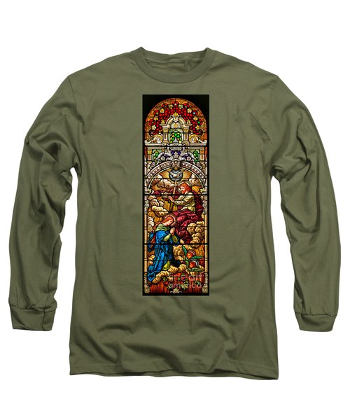 Long Sleeve T-Shirt featuring the photograph Stained Glass Scene 7 Crops by Adam Jewell