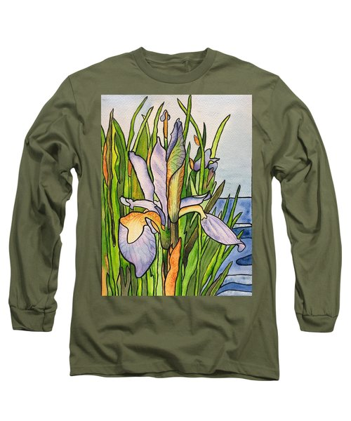 Stained Iris Long Sleeve T-Shirt