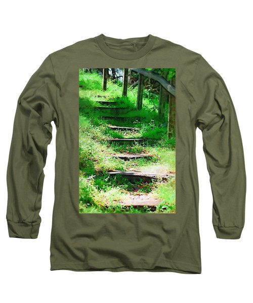 Long Sleeve T-Shirt featuring the photograph Stairway To Heaven by Donna Bentley
