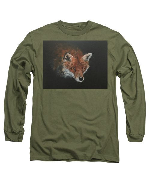 Red Fox In Stalking Mode Long Sleeve T-Shirt