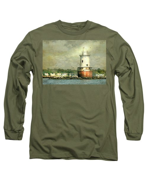 Stamford Harbor Lighthouse Circa 1882 Long Sleeve T-Shirt