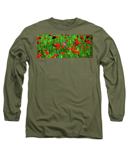 Long Sleeve T-Shirt featuring the digital art Stand Out by Timothy Hack