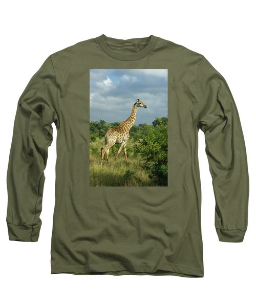 Standing Alone - Giraffe Long Sleeve T-Shirt